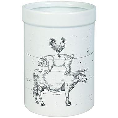Carson Farm Animals Crock Utensil Kitchenware