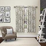 "Pairs to Go Eclipse 15616056X063NEU Bradway Window Curtains (2 Pack), 56"" x 63"", Neutral"
