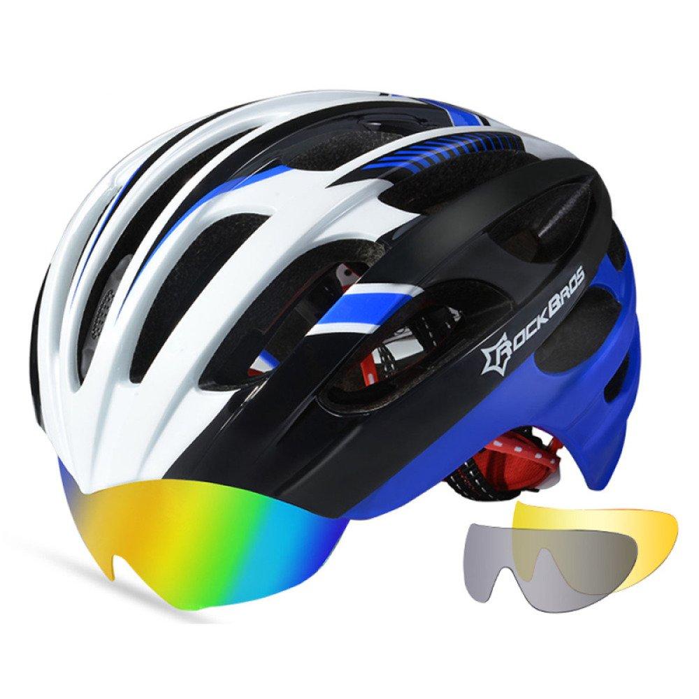 GTYW Fahrradhelm mit Brille MTB Helm Einteilige Leichte Mountainbike Fahrradhelm,F-OneGröße