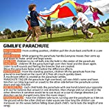 Gimilife 9ft Parachute for Kids, Play Parachute 8