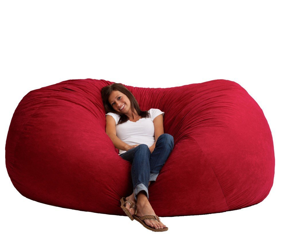 Amazon.com: Giant Memory Foam Bean Bag Chair Vibrant Red 19 Foot ...
