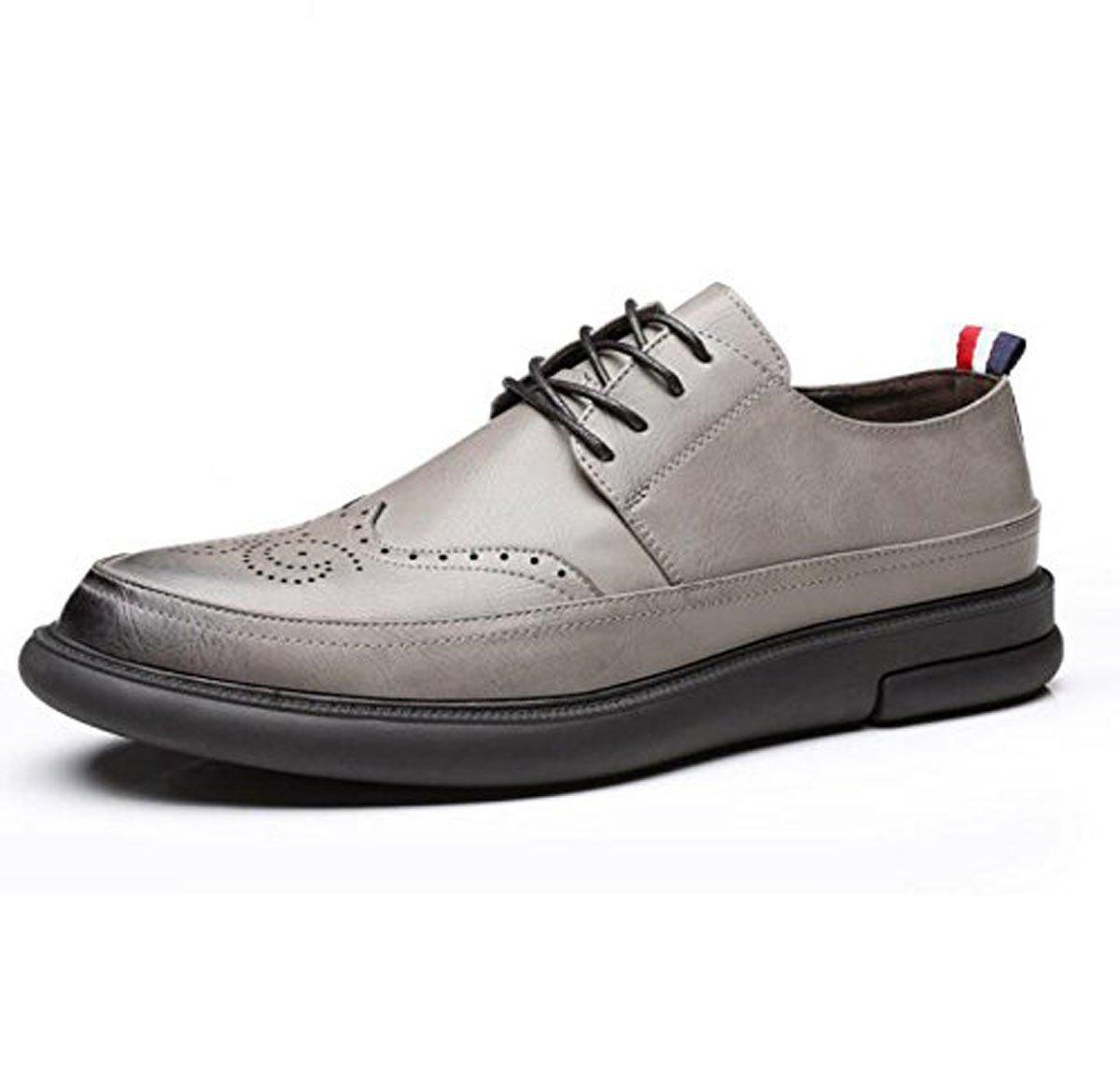 Koyi Zapatos Nuevos para Hombres Zapatos Casuales De Moda Resistentes Al Desgaste Zapatos Antideslizantes Tallados con Cordones Cordones 44 EU|Grey