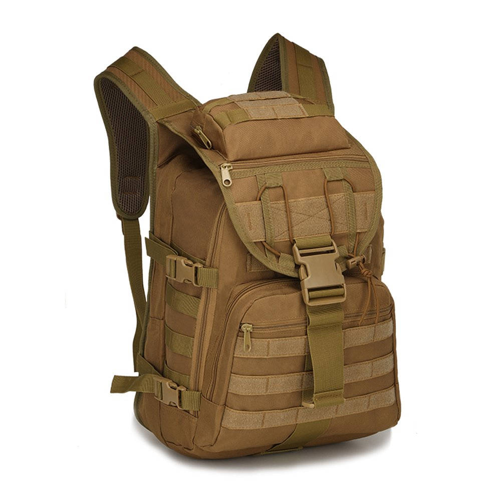 Coffee Kmover Military Tactical Backpack Laptop Backpack for Men and Women Army Backpack Molle Survival Backpack Hiking Backpack for Traveling