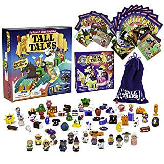SCS Direct, Tall Tales Board Game & Expansion Combo Pack (93 Piece Set) - Educational Story Telling Game w Story Cards & Game Pieces for 5 Ways to Play for Kids & Adults