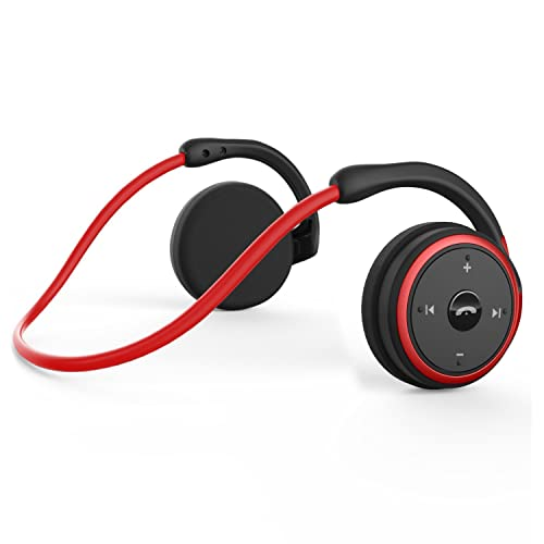 Bluetooth Headphones Wireless Sports Earphones - Bluetooth 4.2 Headset with Hearing Balance and Mic Echoes Cancellation Technology for Running Gym, Lightweight and Portable Design