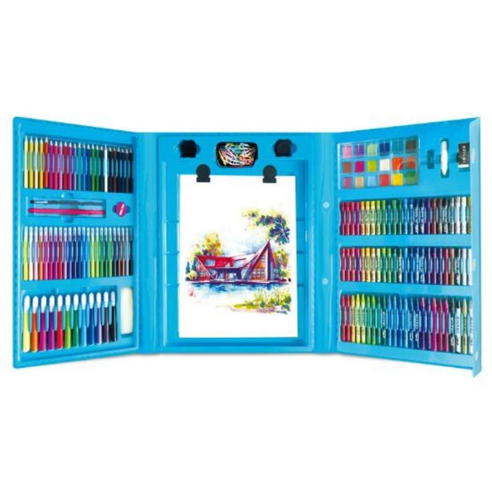 HQYDBB Kids Premium Art Set, 208 Set da Dipinto per Bambini, Penna Acquerello per Scuola primaria, Combinazione di matite Coloreate, A