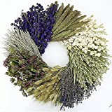 THE GATHERING GARDEN The Wheel. Dried herb, floral and grain fall wreath- Great gardening lover gift! 19 Inch, Hand Made in the USA. Round Wreath, Wreath for the Front Door Home Décor.