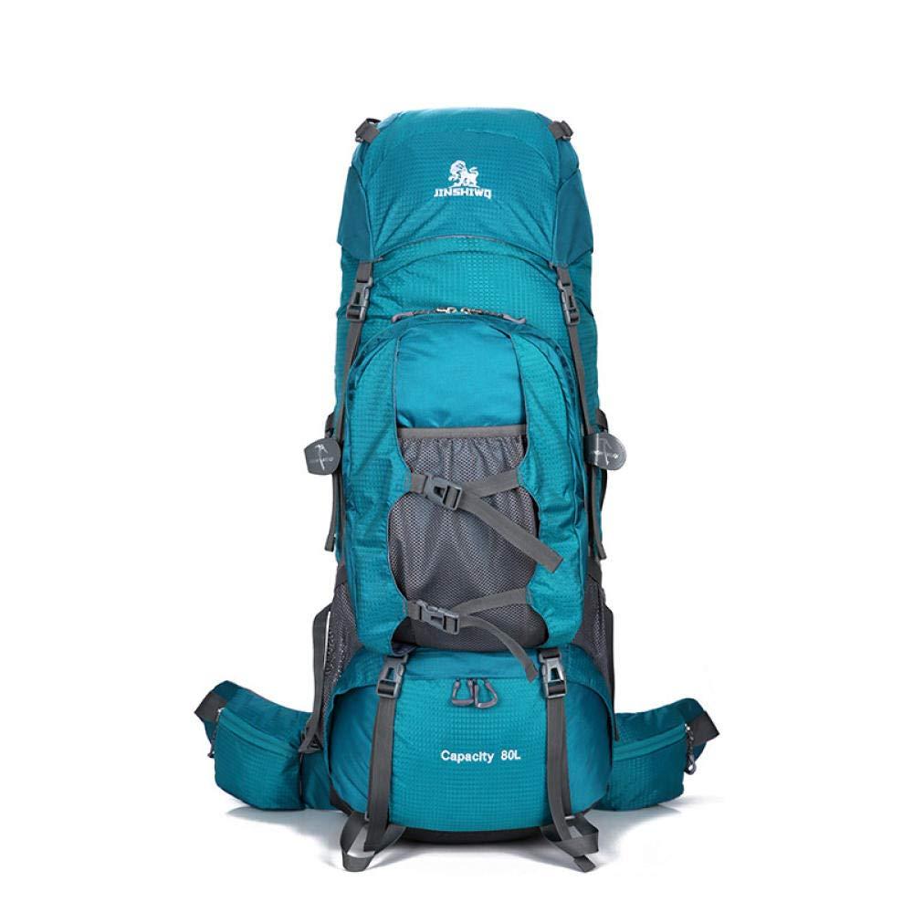 Lake bleu  Sac de Loisirs pour Hommes et Femmes Sac à Dos d'   Alpinisme Grande capacité Sac de Camping en Plein air    Noir