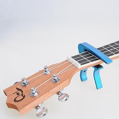annong capodastre pince metal metallique capo de guitare pour guitare guitar bleu
