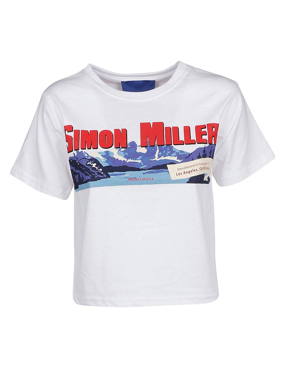 Simon Miller Women's 75888227A1085 White Cotton TShirt