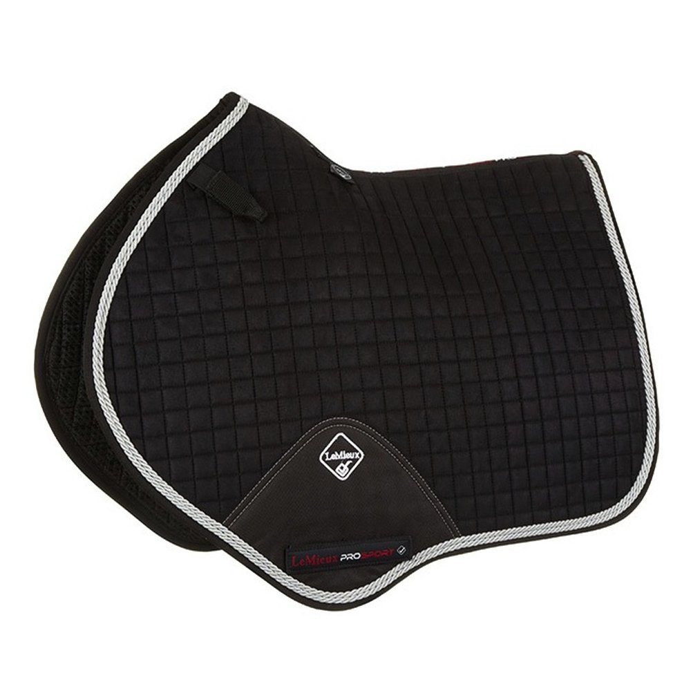 Black LLeMieux Prosport Suede Close Contact Square With Braiding Saddlepad