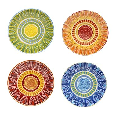 Certified International Tapas Dinner Plate, 11.25-Inch, Assorted Designs, Set of 4