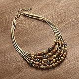 Enesco Global & Vine Multi Strand Necklace
