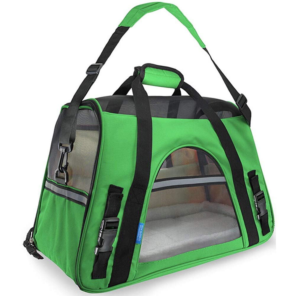 Green 482533cm Green 482533cm MEI Pet Backpacks Outing pet Bag, Cat Bag Travel Portable Dog Bag Bite Resistance Breathable Keep Warm Fashion Backpack Pet Bag (color   Green, Size   48  25  33cm)