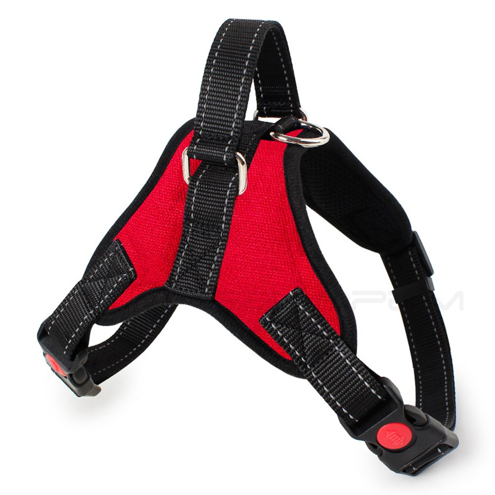 Red black XL red black XL Adjustable Dog Harness Dog Seat Belt Dog Body Vest Pet Safety Leash Leads Sets Dog Chest Strap with Leash Breathable Mesh for Medium and Large Dogs Outdoor Training Walking (XL, red Black)