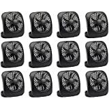 O2Cool FD05004BLK 5 Black 2 Speed Battery Operated Camping Fans - Quantity 12