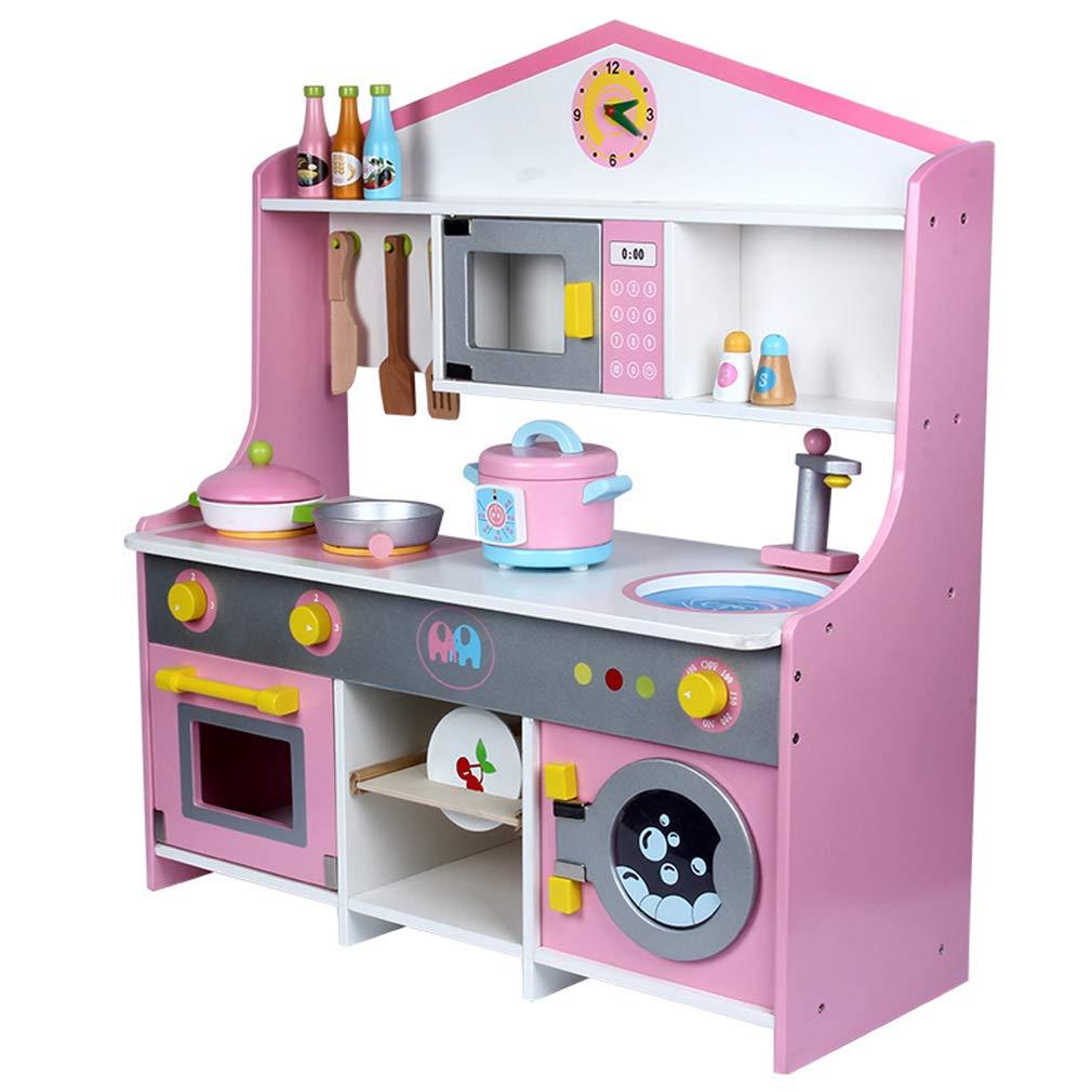ZMH Niños De Gran Japonés De Estilo De Simulación Cocina Infantil Casa De Juegos De Gas Estufa De Taiwan Lavadora Piscina