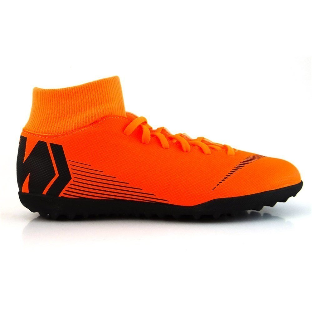 Nike Superflyx 6 Club TF, Zapatillas de Deporte Unisex Adulto 44.5 EU|Multicolor (Total Orange/Black-t 810)