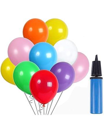 62838295714e AYUTOY 100pcs Globos de látex Globos de Fiesta de Colores Diversos con  Bomba Manual para Bodas