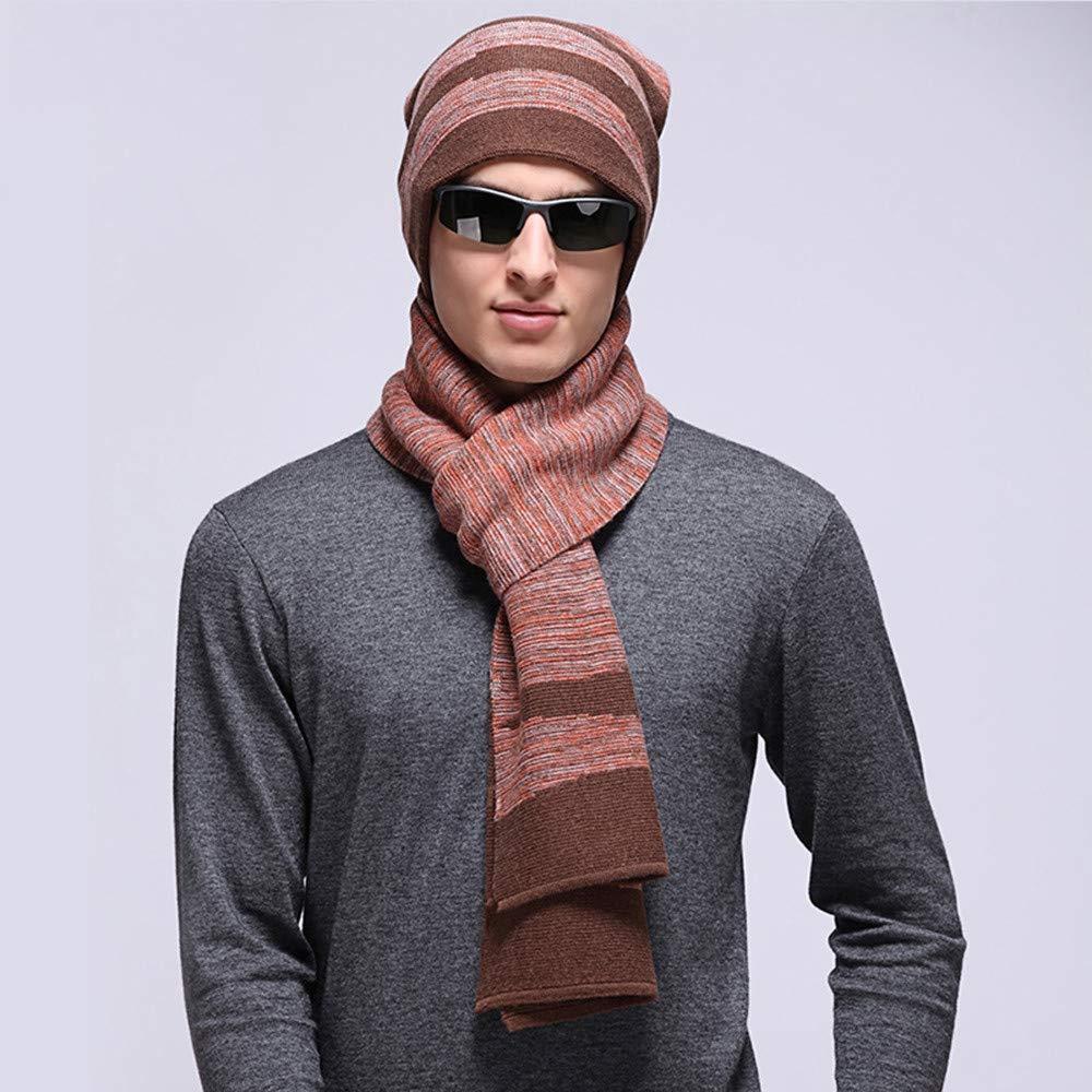 JIUZHOUCAI Herbst Winter Herren Schal Mütze zweiteilig legere Wärme