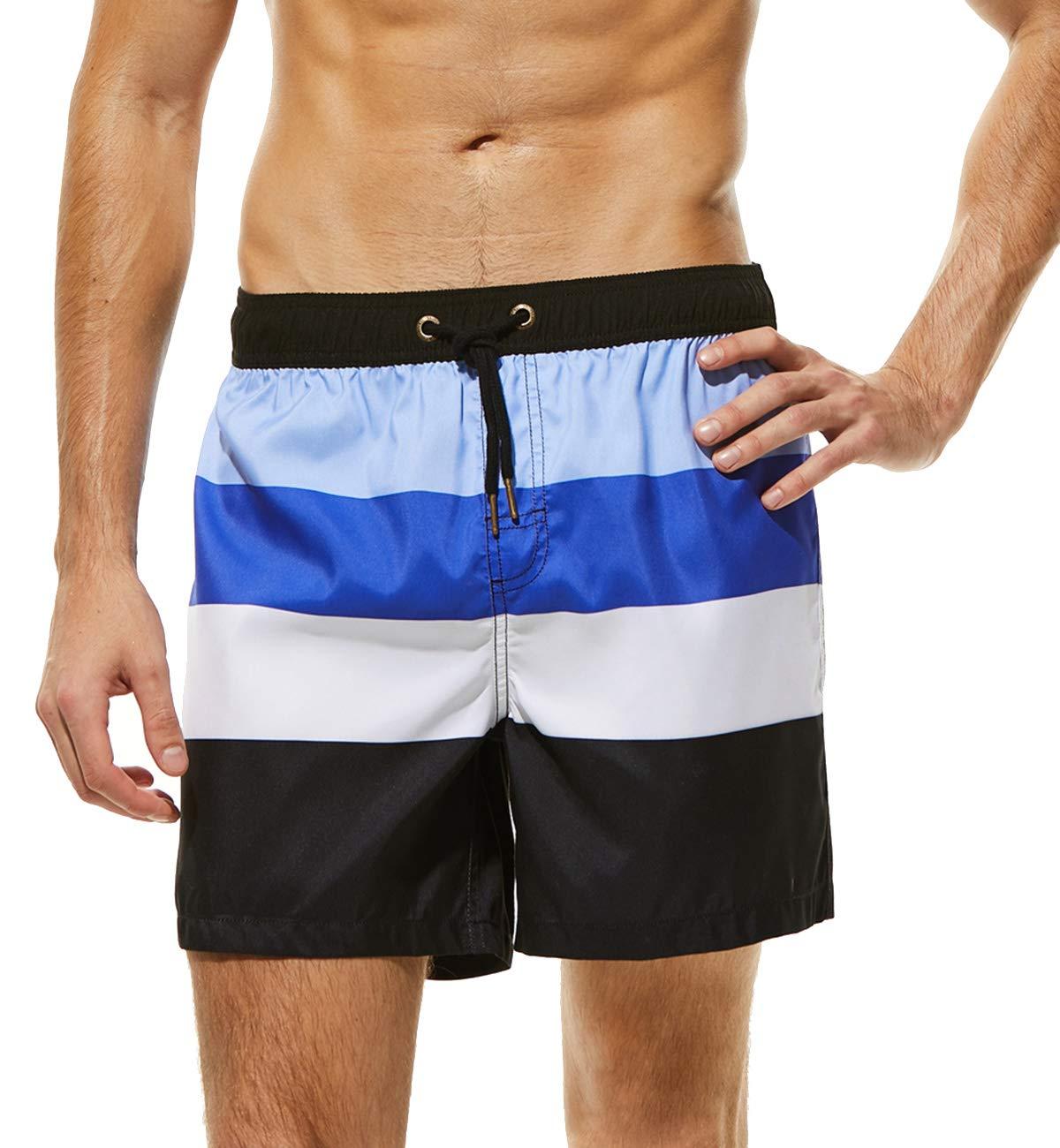 47fba63980c3 Lachi Costume da Bagno Uomo Asciugatura Rapida Pantaloncini Sportivi da  Bagno Tasche per Spiaggia Serf Mare