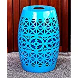 The Lakeside Collection Solar Metal Accent Table Breeze Blue