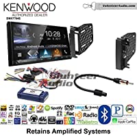 Volunteer Audio Kenwood DMX7704S Double Din Radio Install Kit with Apple CarPlay Android Auto Bluetooth Fits 2009-2010 Ram 2011-2014 Chrysler 200