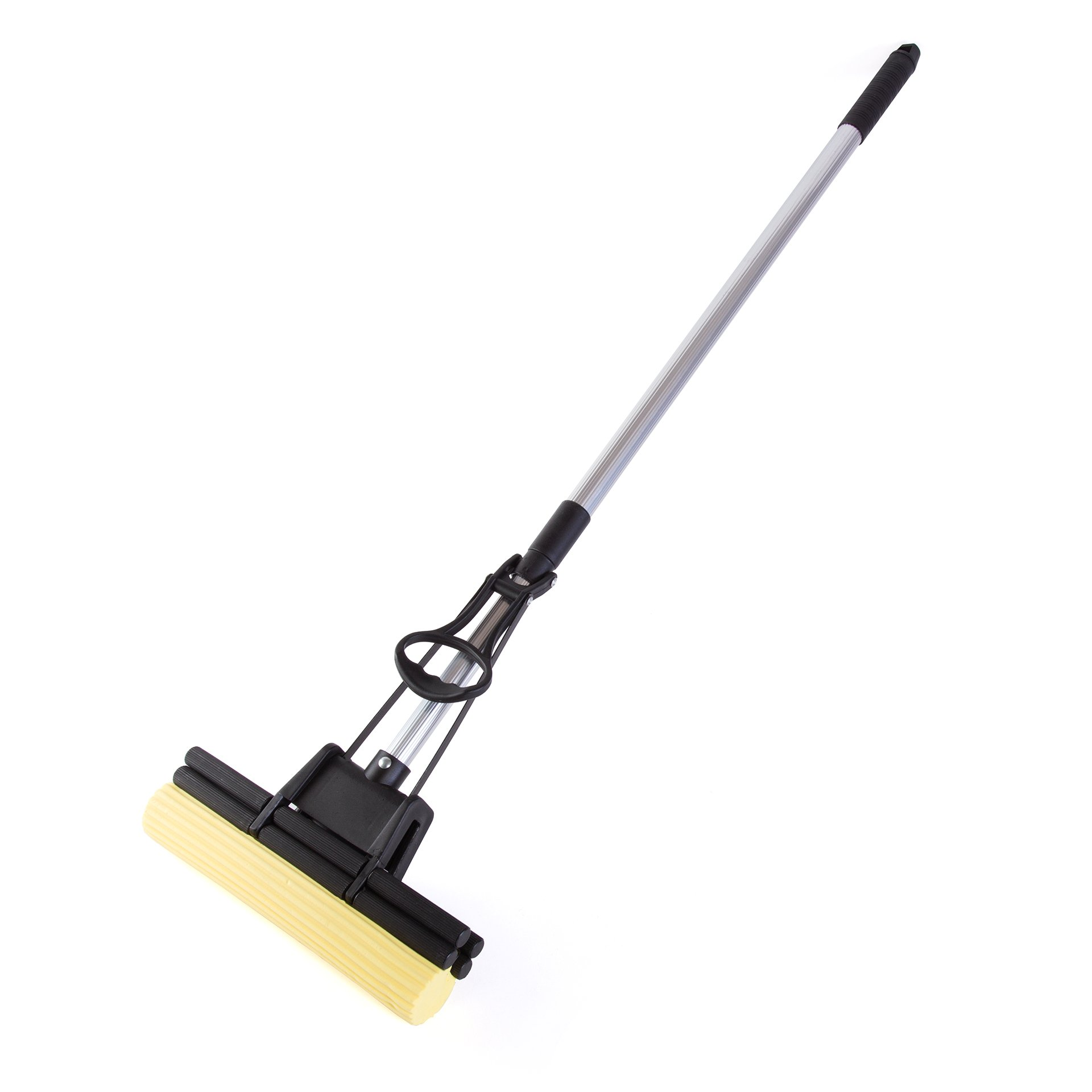 Kitchen + Home Absorbent PVA Double Roller Sponge Foam Mop with Extendable Handle