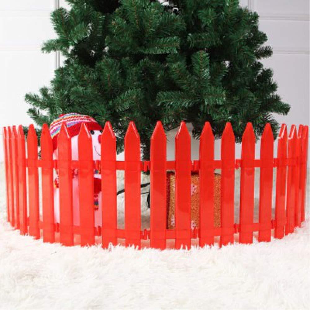Gubby Weißer Zaun des Weihnachtsbaumzauns kann Zaun-Plastikzaunplastikzaun Weihnachtsdekorationen-19 Sein