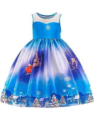 Homebaby Neonata Bambino Piccolo Costume Cosplay di Natale Babbo Stampare  Vestito Ragazze Vintage Mini Abiti Elegante a6b34ed7ea2