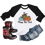 It's Fall Yall Graphic T-Shirt Women Thanksgiving Pumpkin Printed Long Sleeve Splicing Top