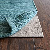 "RUGPADUSA - Basics - 7' Round - 1/8"" Thick - Felt + Rubber - Protective Non-Slip Rug Pad - Cushioning Felt for Modest Comfort - Safe for All Floors and Finishes - Cut to Size for a Perfect Fit"