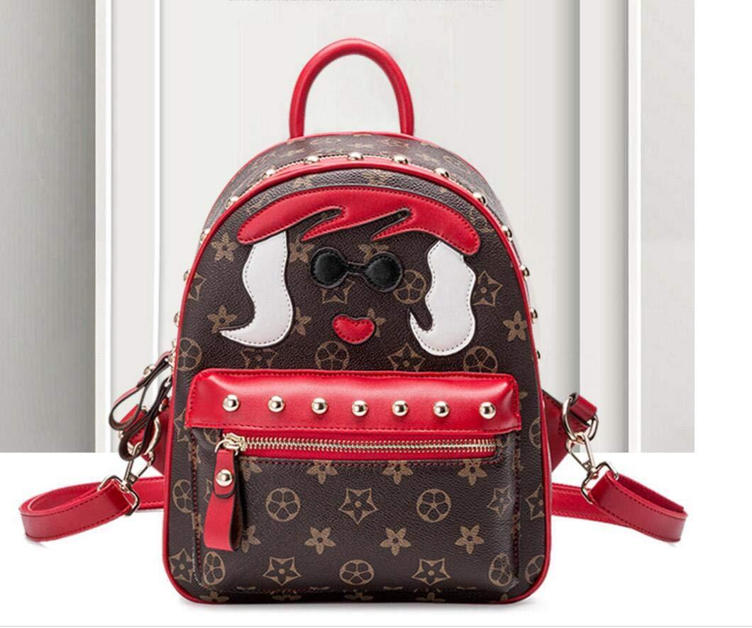 BEIXBAOX Mode Persönlichkeit weiblichen Gezeiten Gezeiten Gezeiten Tasche Mädchen Rucksack gedruckt Umhängetasche (schwarz, rot, braun) B07MPNG3QR Rucksackhandtaschen Tadellos ab258c