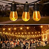 LED Outdoor String Lights 48FT with 15 Edison