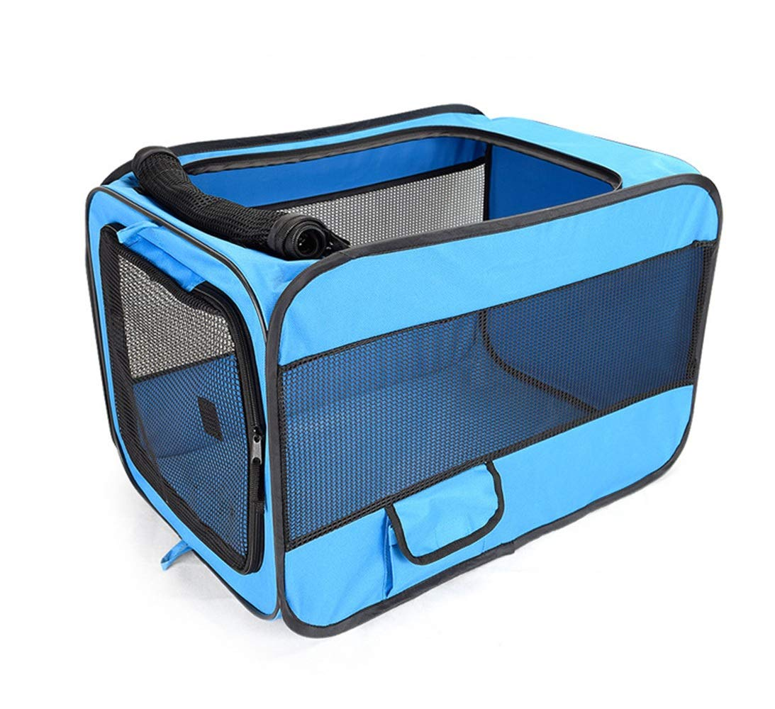 bluee M bluee M Pet Travel Carrier , Comfort Foldable Travel Bag for Dogs and Cats (color   bluee, Size   M)