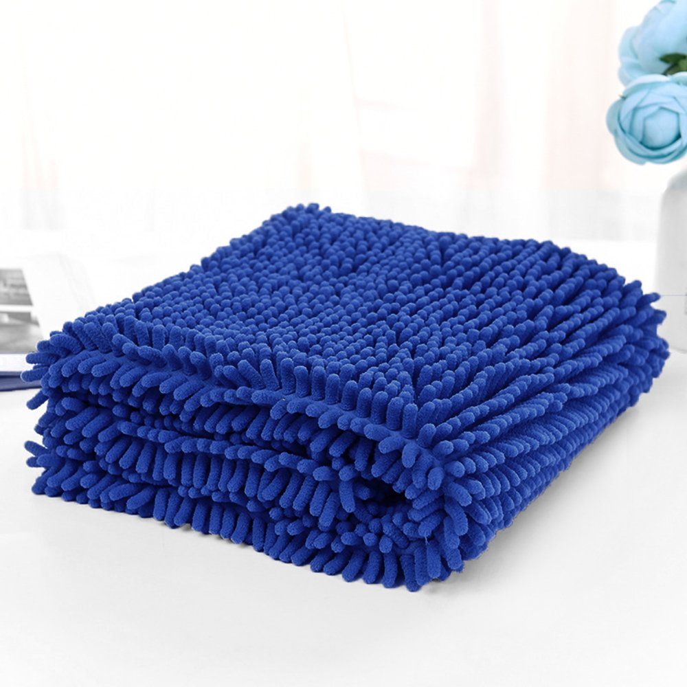 bluee 31 x 13 inch bluee 31 x 13 inch Ultra Absorbent Microfiber Drying Pet Towel for Dogs Cats bluee 31 x 13 inch