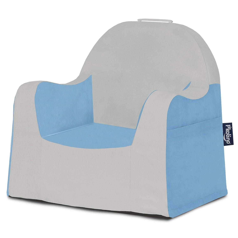 Pink P'kolino PKFFLRGZ Little Reader Chair - Grey White