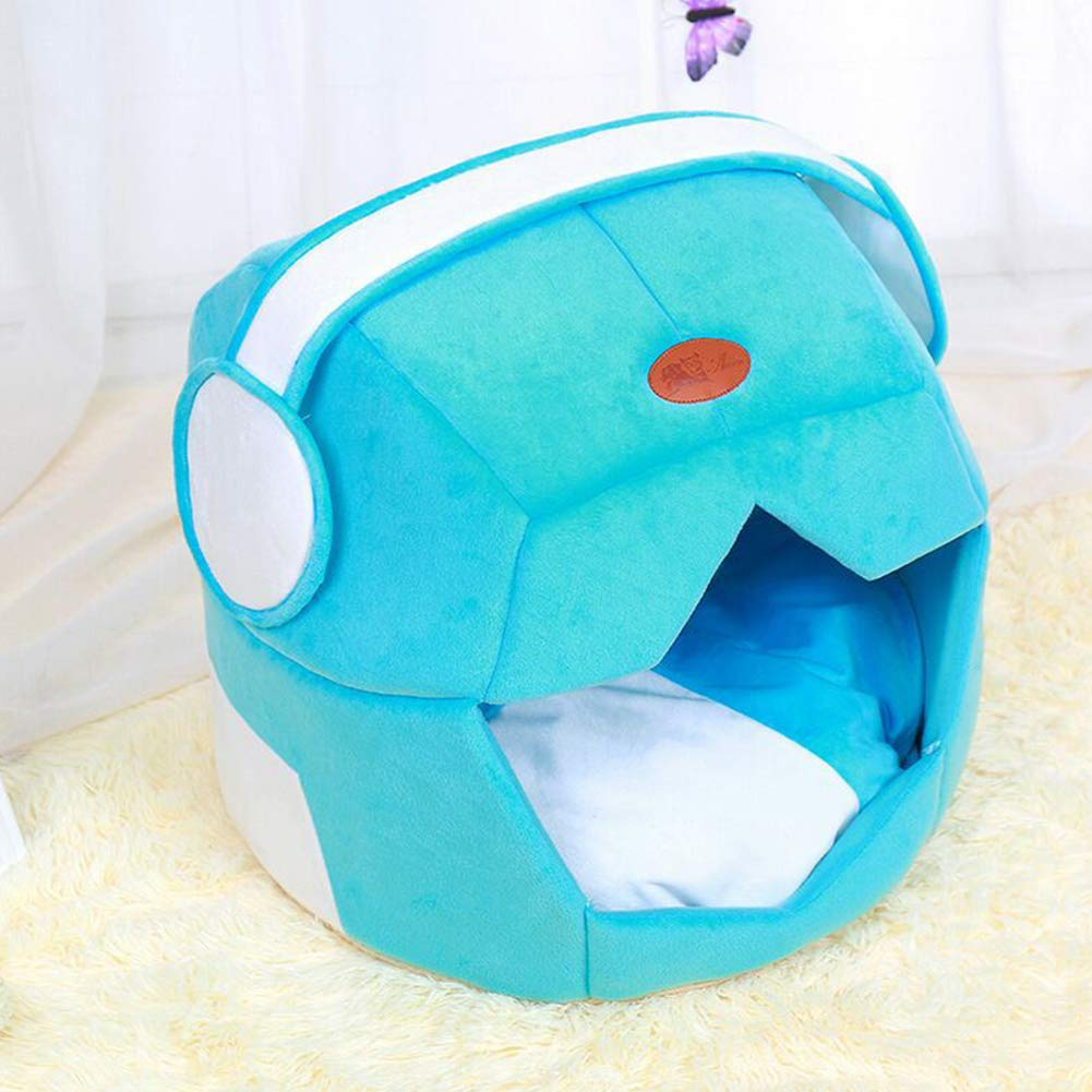 bluee L bluee L XDYFF Pet House Pet Nest Space hat creative dual-use pet litter mat teddy doggy litter cat litter breathable