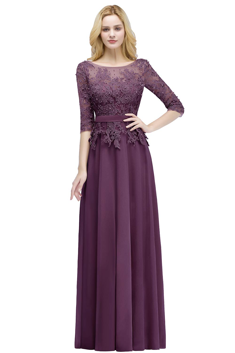 2790c71fcc8 Women Long Military Ball Gown Dress for Cocktail Grape Size 16
