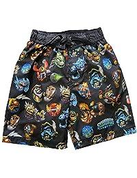 Skylanders Swap Force Big Boys Character Print Swim Wear Shorts 14-16 Black