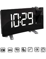 AOZBZ Proyección Techo Reloj de Pared Proyector Digital Radio Reloj Despertador Radio FM Reloj de 7.1