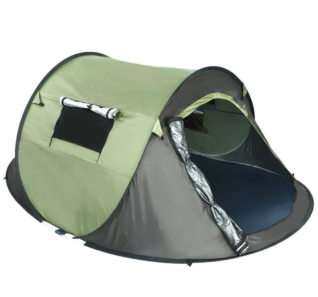 HYCy Tiendas de Velocidad de construcción Libre de Camping al Aire Libre Carpa de Barco Verde Militar portátil de protección Solar Resistente al Agua