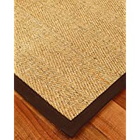 NaturalAreaRugs Capri Sisal Fiber Runne Runner Rug, Handmade in USA, 100% Sisal, Non-Slip Latex Backing, Durable, Stain Resistant, Eco/Environment-Friendly, (2 Feet 6 Inches x 8 Feet) Brown
