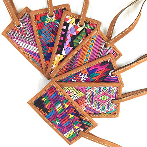 Altiplano Leather Luggage Tag Handmade Fair Trade Guatemala