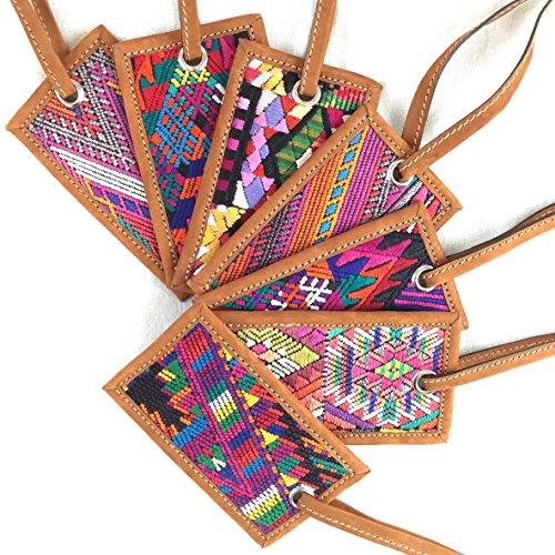 Altiplano Leather Luggage Tag Handmade Fair Trade Guatemala