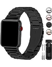 Fullmosa Kompatibel Apple Watch Armband 38mm(40mmSerie 5/4), Rostfreier Edelstahl Watch Ersatzband für iWatch/Apple Watch Serie 5/4/3/2/1,38mm(40mm) Schwarz