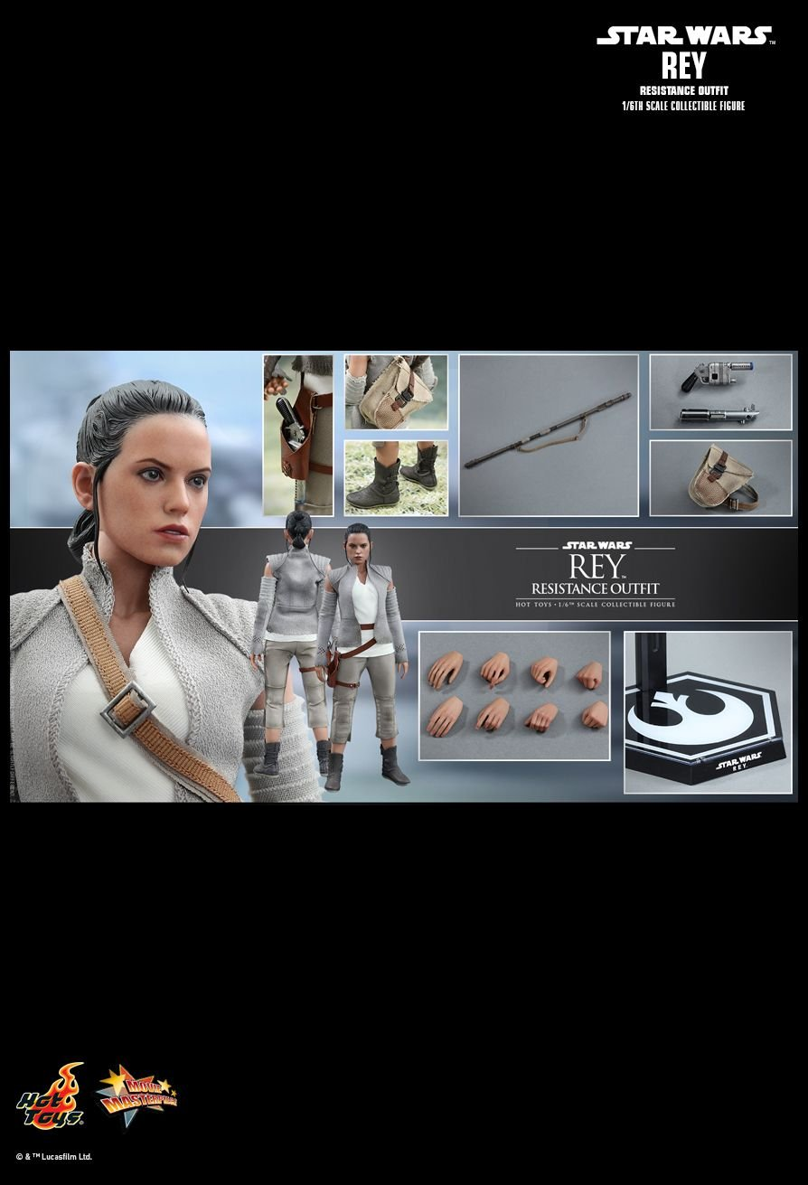 Hot Toys MMS377 - Star Wars   The Force Awakens - Rey Resistance Outfit