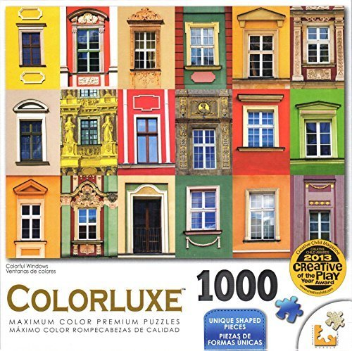Farbeluxe 1000 Piece Puzzle - Farbeful Windows by George