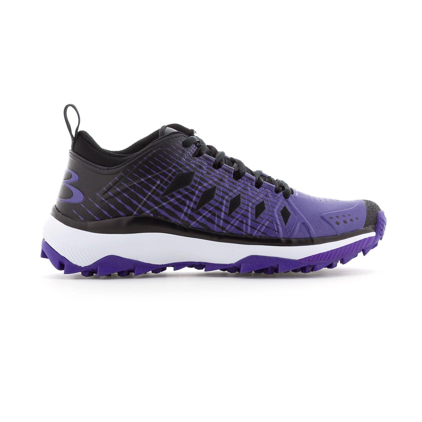 Boombah Women's Squadron Turf Shoes - 14 Color Options - Multiple Sizes B079K6QNXY 9 Black/Purple