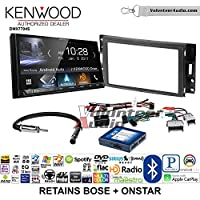 Volunteer Audio Kenwood DMX7704S Double Din Radio Install Kit with Apple CarPlay Android Auto Bluetooth Fits 2005-2013 Chevrolet Corvette, 2006-2009 Hummer H3 (Bose and Onstar)